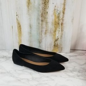 Asos Extra Wide Black Pointed Toe Flats